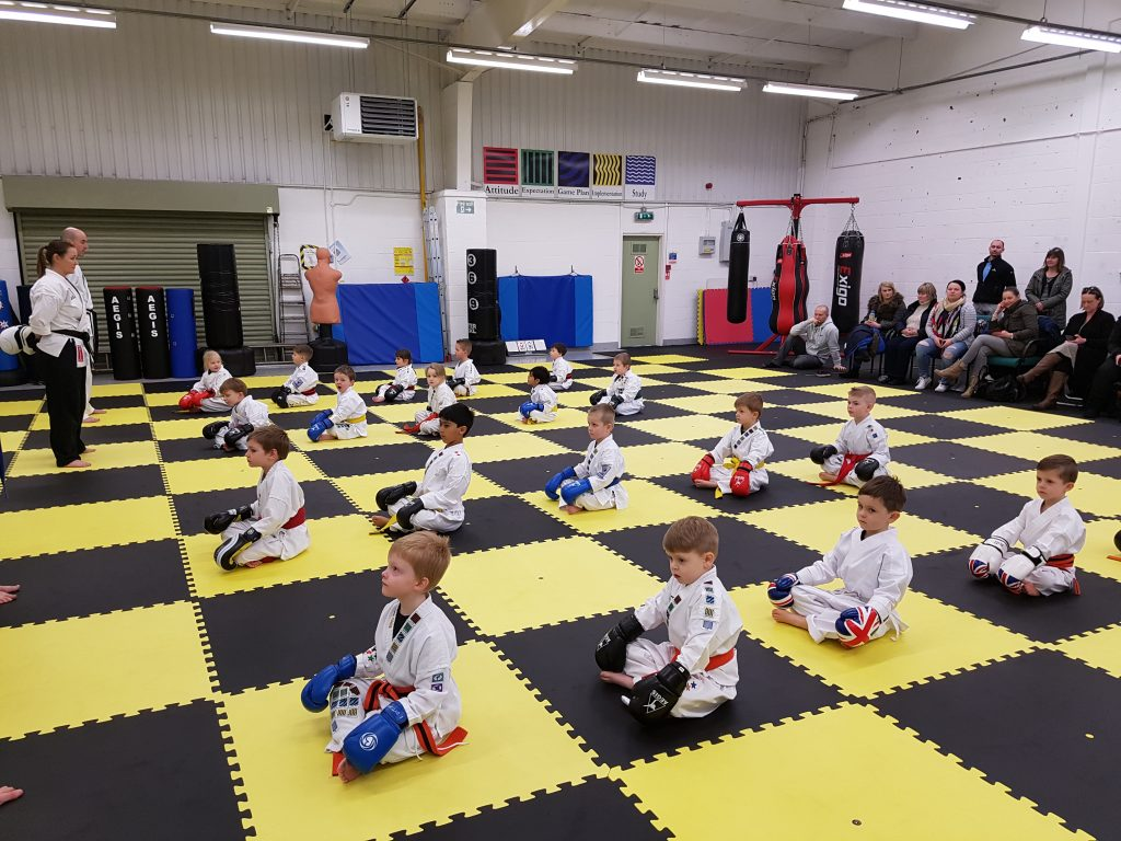 Your Child behaving perfectly in a Ninja Tot class.